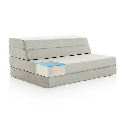 LUCID® Comfort Collection 4 Inch Gel Folding Sofa Bed - Multiple Sizes Available