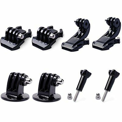 8pcs QKOO Accessories Kit for GoPro Hero 7 6 5 4 3+ 3 2 Black Silver Session YI