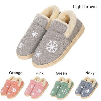 Winter Men Women Soft Indoor Slippers Anti-Slip Warm Household Cotton towing