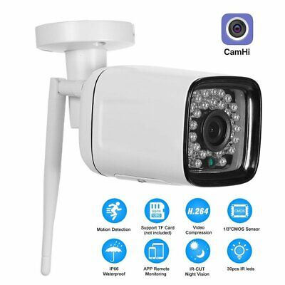 1080P HD Wireless WIFI IP Camera IR Night Vision Motion Detection Home Security