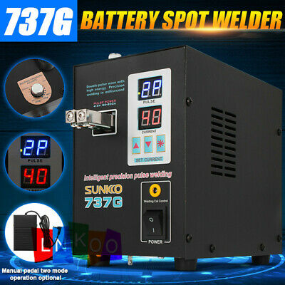 110V Handheld SUNKKO 737G 800A Battery Spot Welder with Pulse Current Display US
