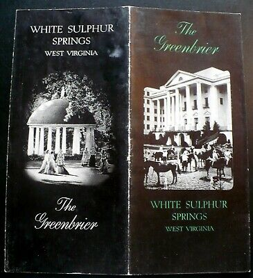 Old Greenbrier Hotel, White Sulphur Springs WV Brochure RE Lee Ball Photos