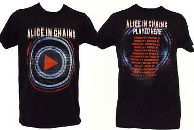 """New Alice in Chains """"Played Here Tour"""" Mens Sizes S-M- L-XL- Concert Band Shirt"""