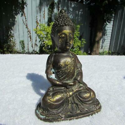 Fine Antique Chinese Gilt Bronze Buddha - Fine Detail - Possibly Ming Dy ?