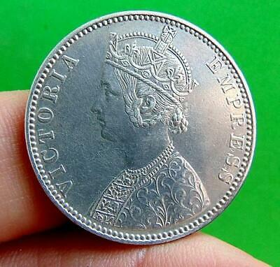 EXCELLENT  SILVER  1892  1  RUPEE  from  INDIA....a.UNC  GRADE  LUCIDO_8  COINS