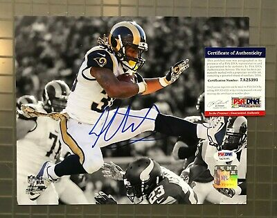 fdab3b06e TODD GURLEY SIGNED 8x10 St. Louis Rams Photo - Spotlight Leap Close ...