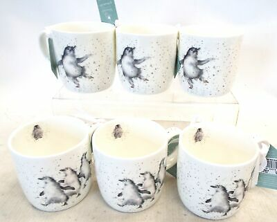 "6 ROYAL WORCESTER - WRENDALE DESIGNS - ""OUT OF TOWN"" Penguin Mugs *NEW* - C51"