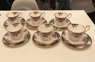 18 Piece Royal Albert Concerto Tea Cup, Saucer And Plate Bone China