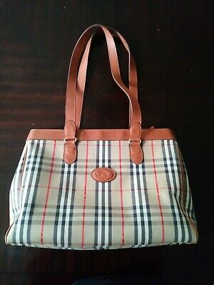 ed83ad35c43e7 AUTHENTIC BURBERRY PURSE Bag classic check print.used.outside great.inside  worn.