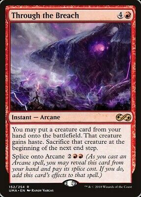 THROUGH THE BREACH Ultimate Masters MTG Red Instant — Arcane Rare