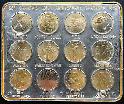 1867-1992 Canada's 125th Anniversary Provincial Quarter Set - Mint Condition