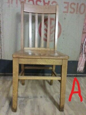 Antique Oak Office Chair - mission style - arts & crafts