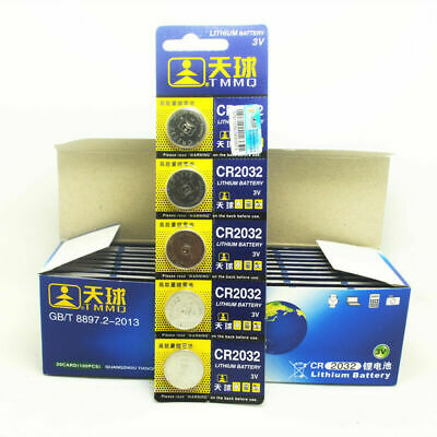 5PCS CR2032 DL2032 LM2032 3V Button Cell Coin Battery for Watch Toys Remote New