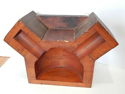 Antique Industrial Foundry Factory Mold Wood Steampunk Cylinder Head