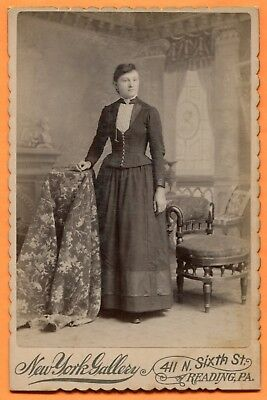 Reading, PA, Portrait of a Young Woman, by New York, circa 1880s Backstamp