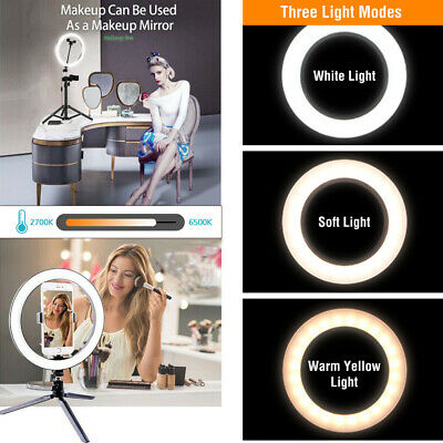 16/26cm Dimmable LED Selfie Ring Light Youtobe Photography Studio Live Show USB