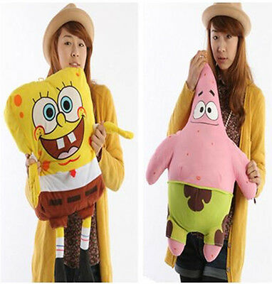 Hot Giant SPONGEBOB SQUAREPANTS Patrick Star Doll Stuffed Plush Soft Toy Pillow