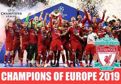 "Liverpool FC 2018 2019 Champions of Europe Fridge Magnet size 70x100mm 2.8"" x 4"""