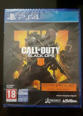 Jeu PS4 Call Of Duty Black Ops 4 ! Neuf Sous Blister ! Edition spécialiste
