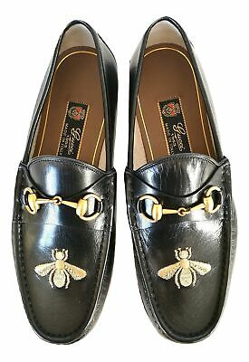 9474f7aa9 GUCCI men's moccasin shoes quentin ape embroidery 478292 D3V00 1000 black