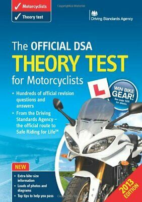 (Very Good)-The Official DSA Theory Test for Motorcyclists Book 2013 edition (Pa
