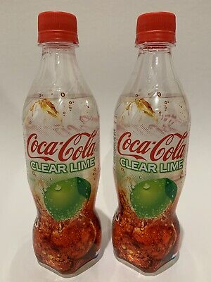 Coca Cola Clear Lime Limited Edition Japanese Soda Bottles *2 Bottles
