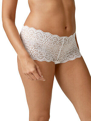 Next size 14 floral lace low rise knickers stretchy shorts briefs NO VPL White