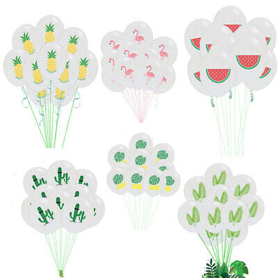"12"" 10pcs Latex Balloon Pineapple Cactus Hawaiian Theme Birthday Party Decor New"