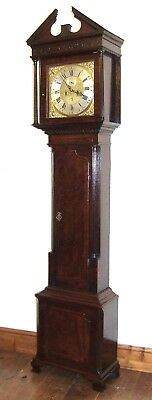 Antique 8 Day Georgian Inlaid Mahogany Longcase Clock ALEX GORDON DUBLIN