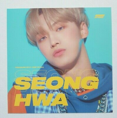 """ATEEZ SEONGHWA Official Postcard - Official Album """"TREASURE EP.3 : One To All"""""""