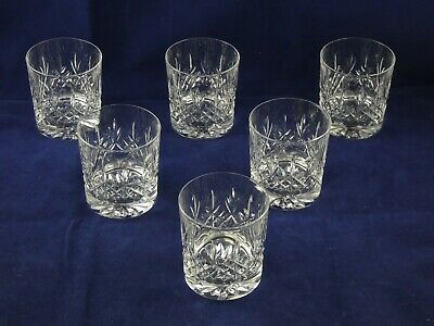 Six 6 Beautiful Edinburgh Crystal Lomond Old Fashioned Tumblers Whisky Glasses