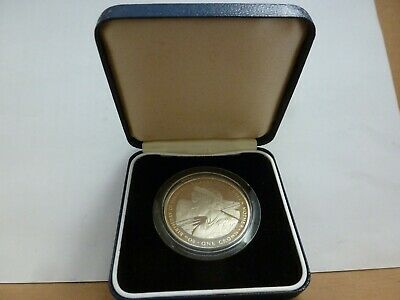 Gibraltar 1980 Silver PROOF 80th birthday The Queen Mother Crown Coin