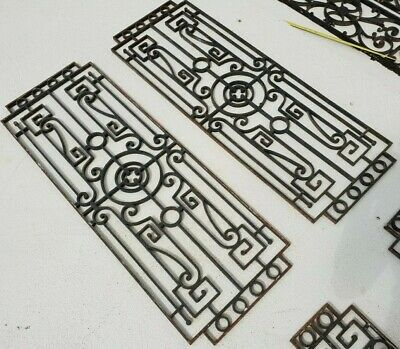 French Antique Architectural Salvage cast Iron Window door Grills art deco