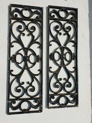 French Antique Architectural Salvage cast Iron Window door Grills