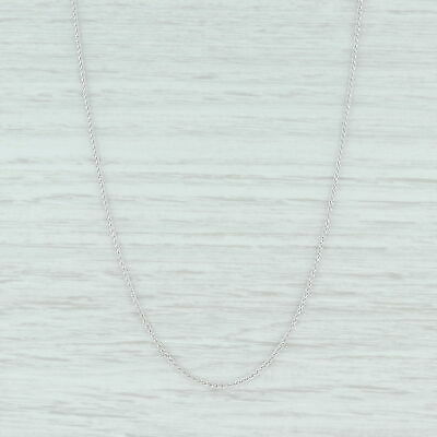 """Wheat Chain Necklace - 14k White Gold 18"""" 1.3mm Lobster Clasp Italian"""