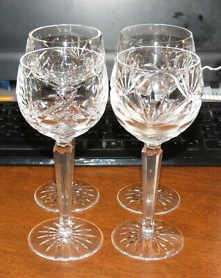 "4 Waterford 7 1/2"" hocks / wine glasses EXC!"