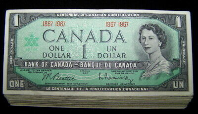 BANK OF CANADA 1967 $1 NOTES BC-45a  F to  VF *10 PCS LOT*