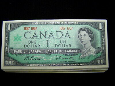 BANK OF CANADA 1967 $1 NOTES BC-45a  VF to  EF *10 PCS LOT*