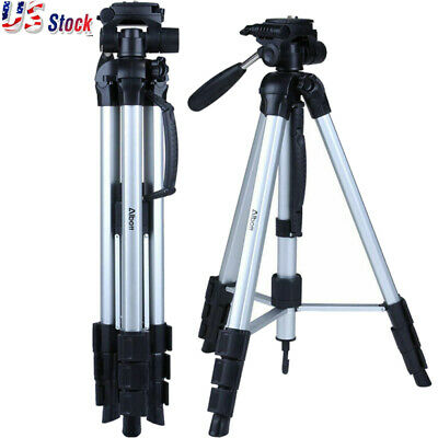 "70"" Professional Aluminum Alloy Camera Tripod for DSLR Camera Black"