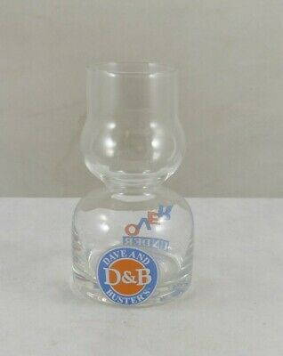 "3½"" Dave & Busters OVER UNDER Double Bubble Shot Glass / Chaser Jigger"