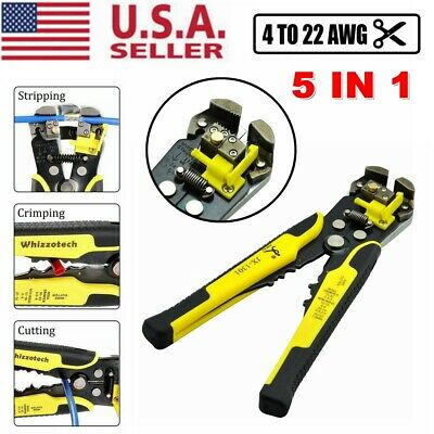 Self Adjusting Insulation Wire Stripper Cutter Crimper Cable Stripping Tools US