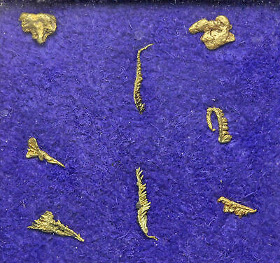 GOLD NUGGETS. Lot of 8 pieces from Liberty, Washington, Wire gold, Rare