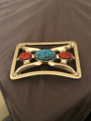 Vintage Chambers Phoenix Turquoise Western Style Belt Buckle - Great Condition