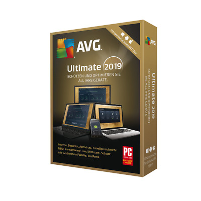 Avg Ultimate 2019, 2 Years - For Unlimited Devices, Windows, Mac, Android No Cd
