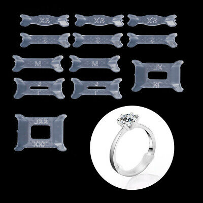 12Pcs Invisible Ring Size Adjuster for Loose Ring Size Reducer Spacer Ring Guard
