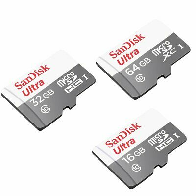 16/32/64GB SanDisk Ultra Micro SD SDHC/SDXC CLASS 10 UHS-1 Ori. Jun