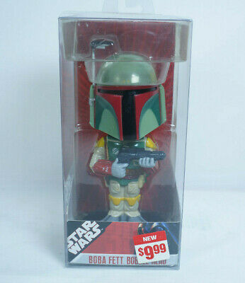 2007 Funko Wacky Wobbler Star Wars Boba Fett Bobblehead With Packaging