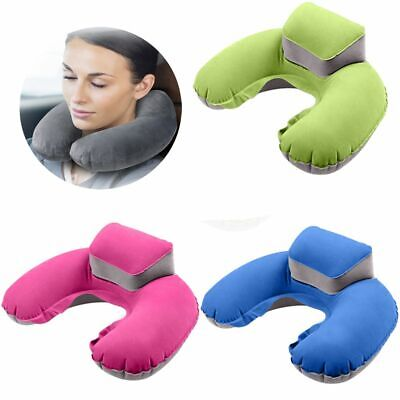 U Shape Air Inflatable Pillow Cushion Neck Rest Plane Travel Work Office Car