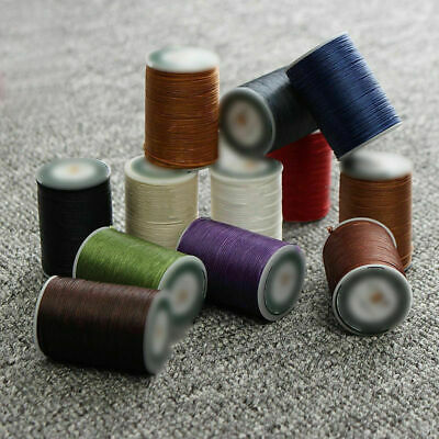 0.8mm 90m Polyester Waxed Thread Cord For Sewing Machine Stitching Leather Craft