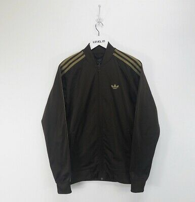 ADIDAS BOMBER JACKET Vintage Size M Cotton Red Gray Old